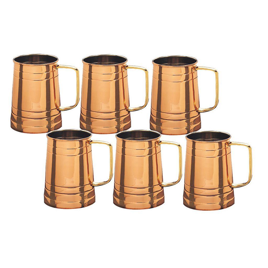 Old Dutch 6-pc. Copper Tankard Set