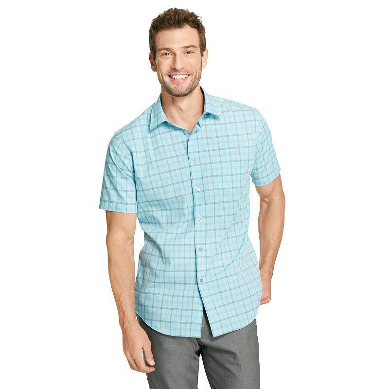 Gray blue plaid shirt kohl 39 s for Van heusen plaid shirts
