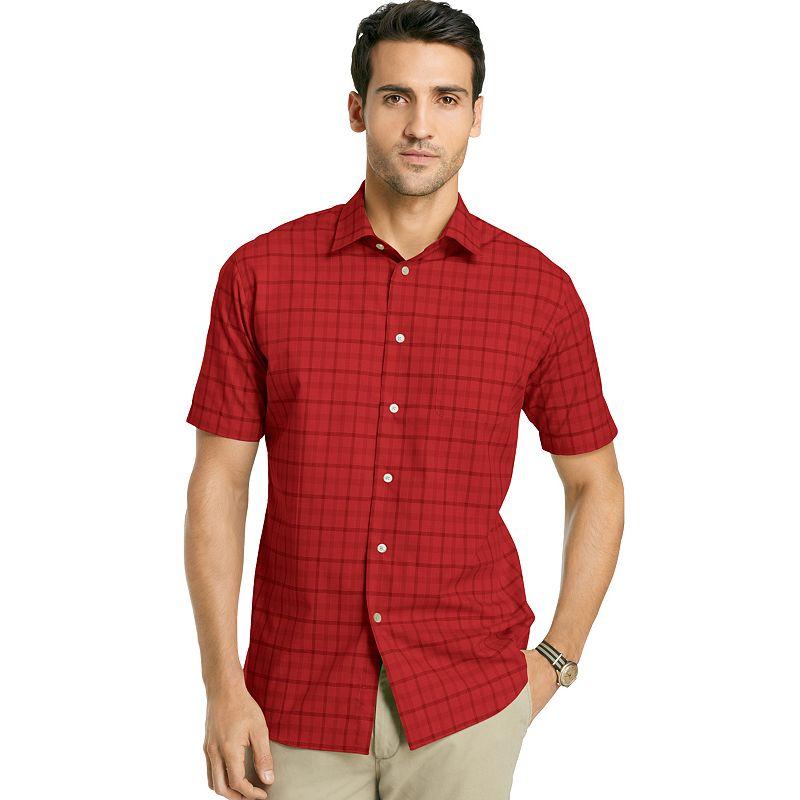 Mens aqua shirt kohl 39 s for Van heusen plaid shirts