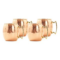 Old Dutch 4 pc 24-oz. Hammered Copper Moscow Mule Mug Set