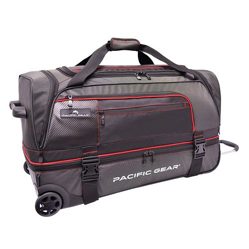 Pacific Gear 30-Inch Drop-Bottom Rolling Duffel Bag