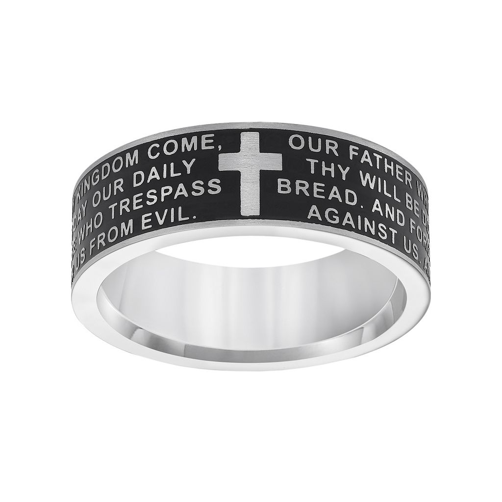 Cherish Always Stainless Steel Lord's Prayer Band