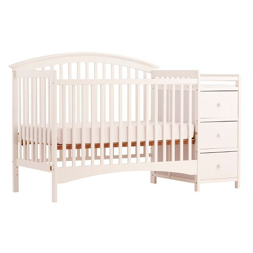 Stork Craft Bradford Fixed Side 4 In 1 Convertible Crib Changer
