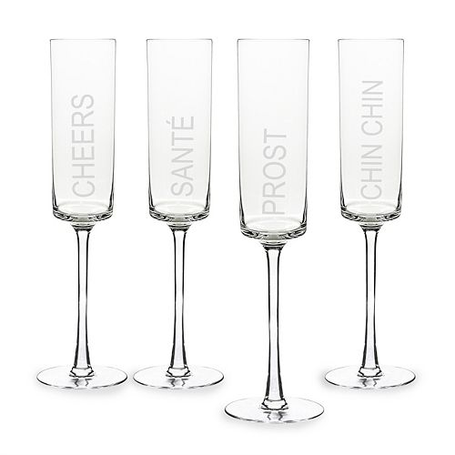 Cathy's Concepts 4-pc. Cheers! Contemporary Champagne Flute Set