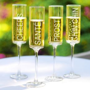 Cathy's Concepts 4-pc. Cheers Contemporary Champagne Flute Set
