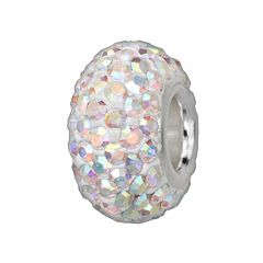 Individuality Beads Sterling Silver Iridescent Crystal Bead