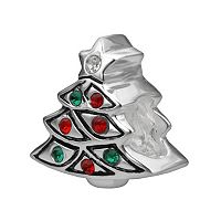 Individuality Beads Sterling Silver Crystal Christmas Tree Bead