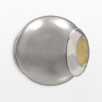 Individuality Beads Sterling Silver Gray Simulated Pearl Bead