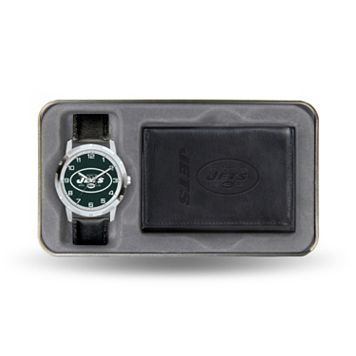 New York Jets Watch & Leather Trifold Wallet Set