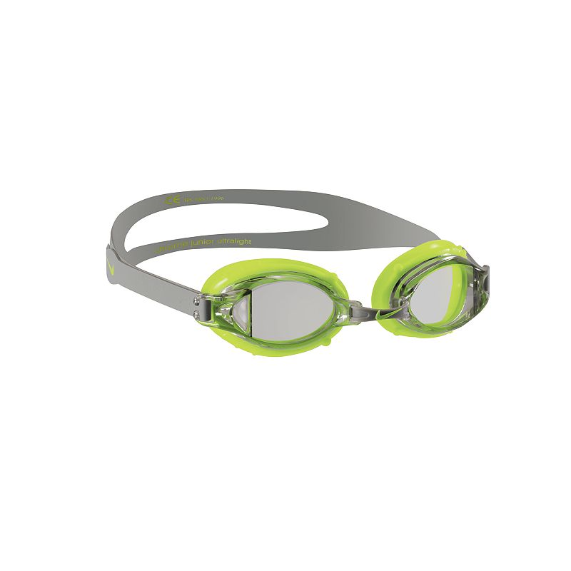 Nike Chrome Jr. Goggles, Grey Six-way adjustable nose pieceTPE gasketLatex split strapClear lensLightweight design Size: One Size. Color: Grey. Gender: Unisex. Material: Poly Blend.