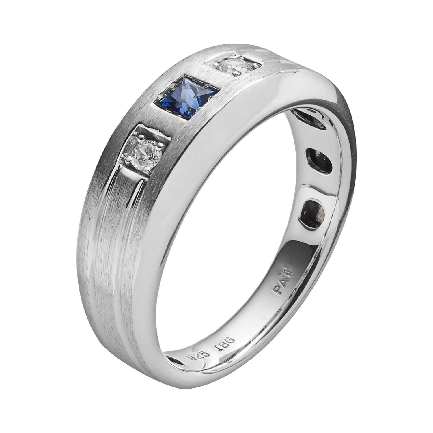 Mens Sapphire Wedding Bands Rings Jewelry