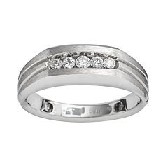 10k White Gold 1/4 ctT.W. Diamond Band - Men