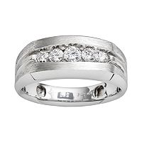 10k White Gold 1/2-ct. T.W. Diamond Band - Men