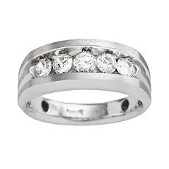 10k White Gold 1 ctT.W. Diamond Band - Men