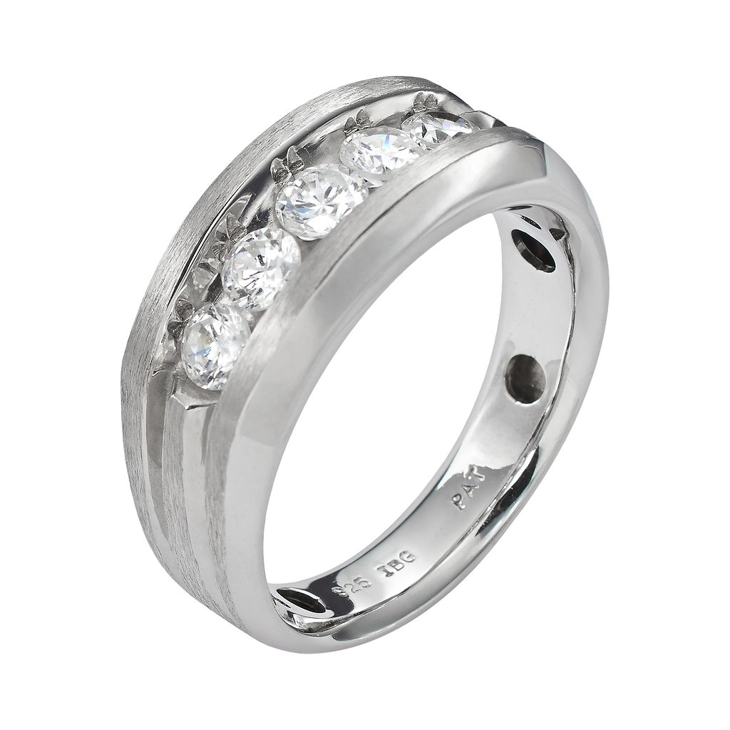 10k White Gold 1-ct. T.W. Diamond Band - Men