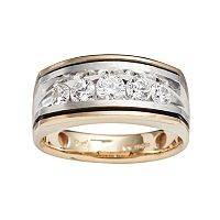 10k Gold Two Tone 1 ctT.W. Diamond Band - Men