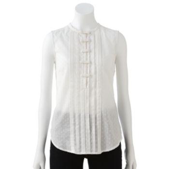Sale alerts for  LC Lauren Conrad Bow Pintuck Top - Women's - Covvet
