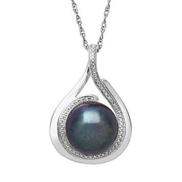 Sterling Silver Dyed Freshwater Cultured Pearl Teardrop Pendant