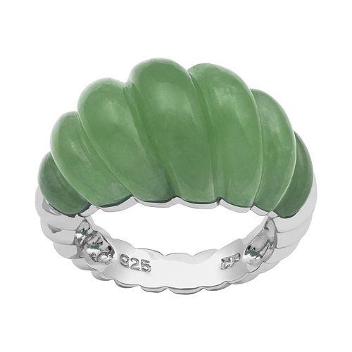 Sterling Silver Jade Ring
