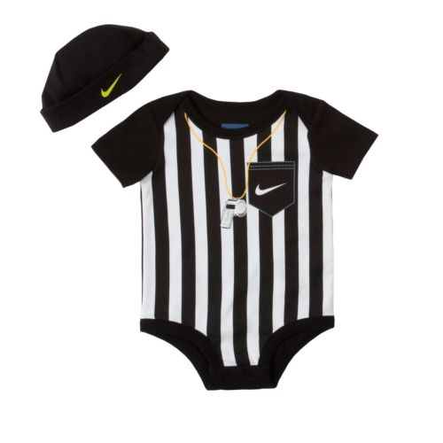 Nike Striped Referee Creeper and Hat Set - Baby