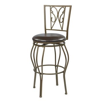 Office Star Products Cosmo Scroll Swivel Bar Stool