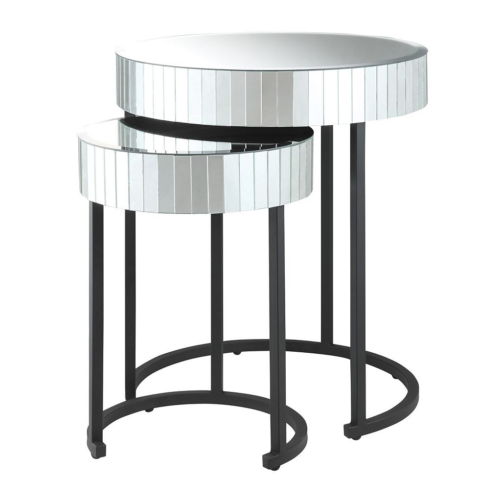 Office Star Products Krystal 2-pc. Mirror Table Set
