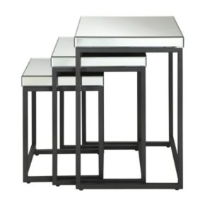 Office Star Products Krystal 3-pc. Mirror Table Set