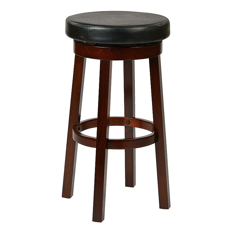 OSP Home Furnishings Metro Bar Stool, Black