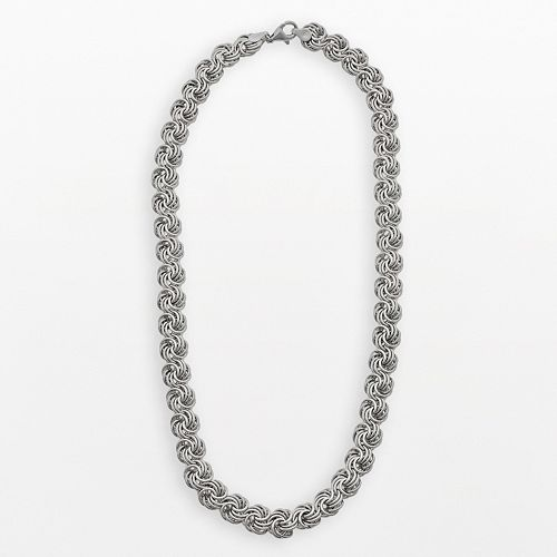 Sterling Silver Rosetta Necklace