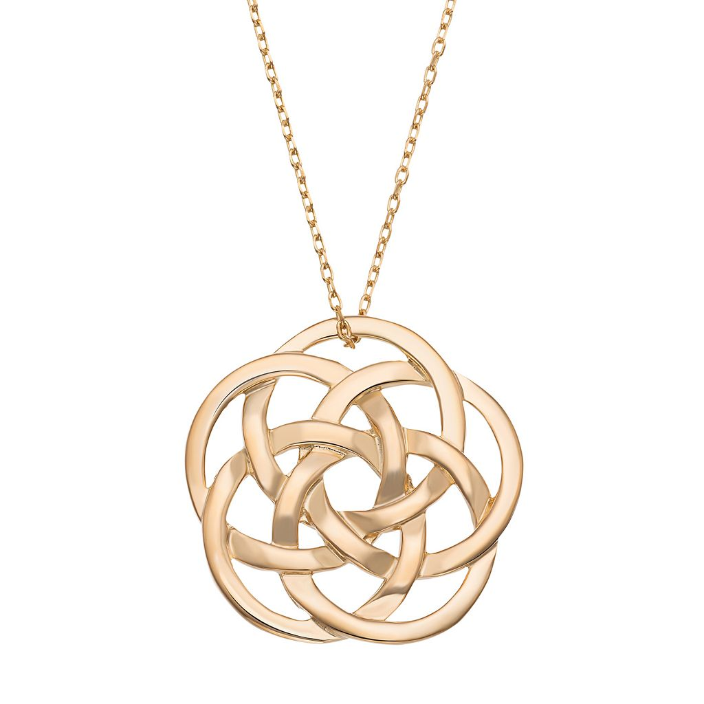 14k Gold Over Silver Celtic Knot Pendant