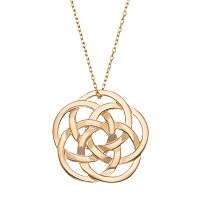 14k Gold Over Silver Celtic Knot Pendant
