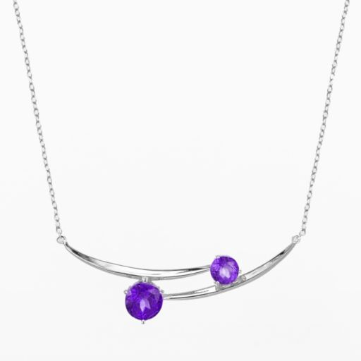 Sterling Silver African Amethyst Necklace