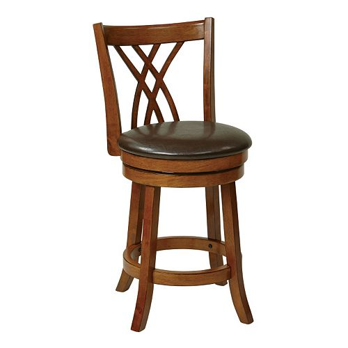 Office Star Products 24-in.Swivel Counter Stool