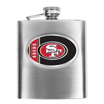 San Francisco 49ers Stainless Steel Hip Flask