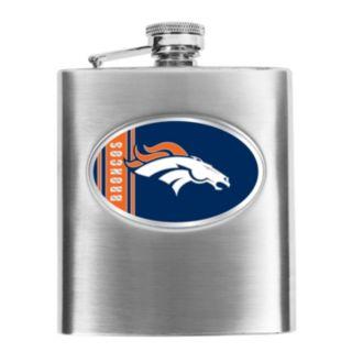 Denver Broncos Stainless Steel Hip Flask