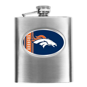 Denver Broncos Stainless Steel Hip Flask