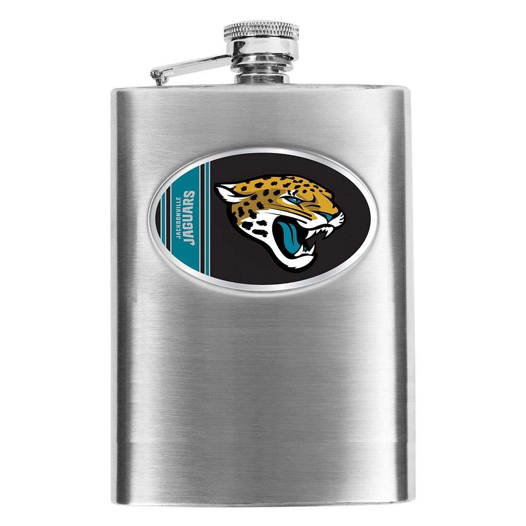Jacksonville Jaguars Stainless Steel Hip Flask