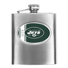 New York Jets 6-Ounce Stainless Steel Hip Flask