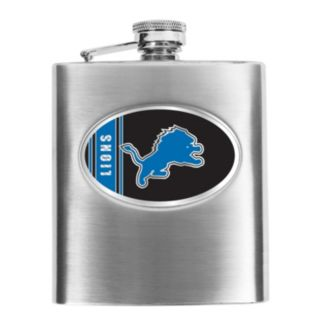 Detroit Lions 6-Ounce Stainless Steel Hip Flask