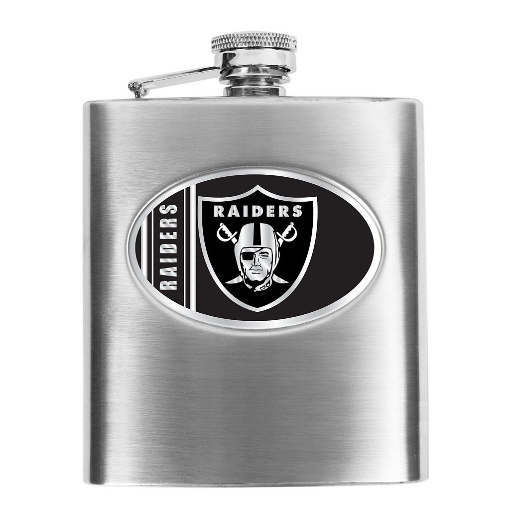 Oakland Raiders 6-Ounce Stainless Steel Hip Flask