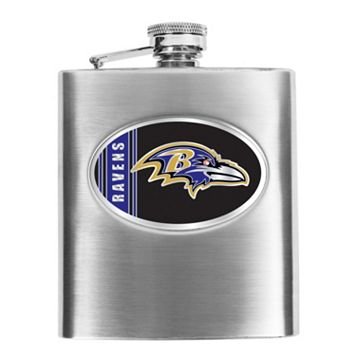 Baltimore Ravens Stainless Steel Hip Flask