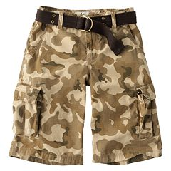 Boys 8-20 Urban Pipeline™ Camouflage Belted Ripstop Cargo Shorts