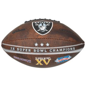 Oakland Raiders Commemorative Championship 9'' Football