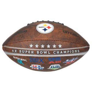 Pittsburgh Steelers Commemorative Championship 9'' Football