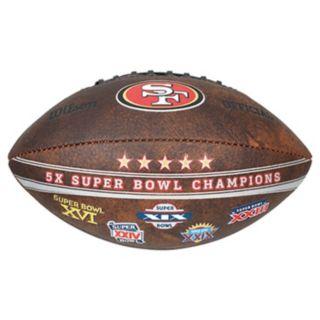 San Francisco 49ers Commemorative Championship 9'' Football