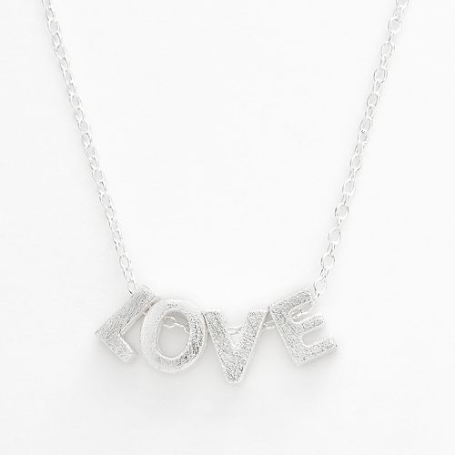 "Sterling Silver ""Love"" Necklace"