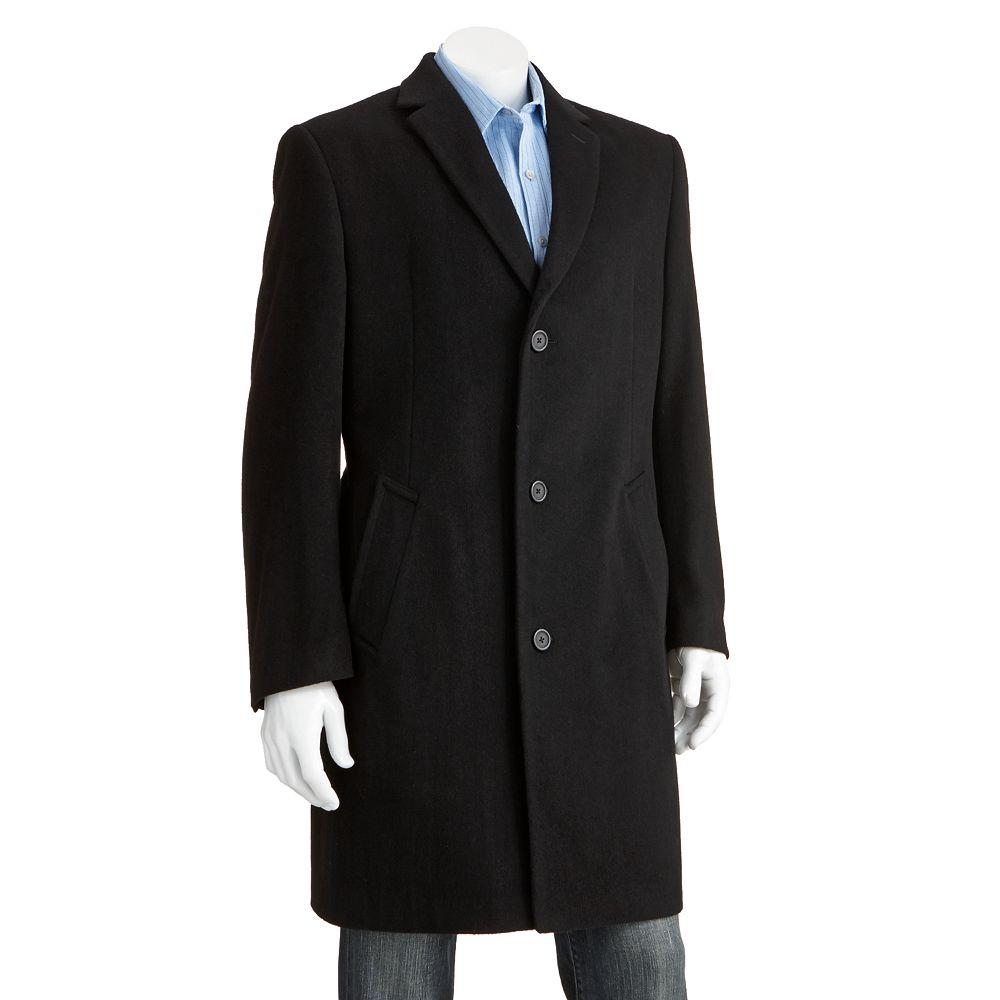 Men's Jean-Paul Germain Classic-Fit Jeffery 38-in. Wool-Blend Top Coat