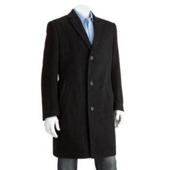 Men's Jean-Paul Germain Classic-Fit Jeffery 38-in. Wool-Blend Top Coat