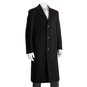 Men's Jean-Paul Germain Classic-Fit Sander 45-in. Wool-Blend Top Coat