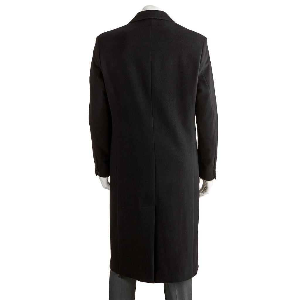 Men's Jean-Paul Germain Classic-Fit Sander 45-in. Wool-Blend Top Coat